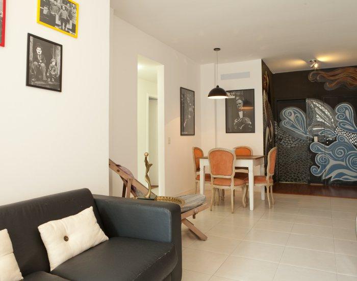 Open living at Paraiso Barra Apartment, Joa, Rio de Janeiro