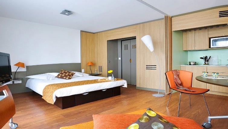 Stylish bedroom in Adagio Nantes Centre