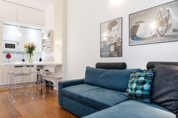 Living area at Blooming Rose Apartment, Ticinese, Milan