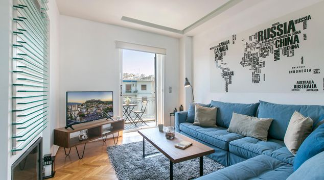 Living area at Vasileos Konstantinou II, Neapoli, Athens
