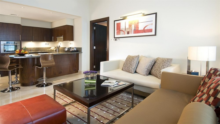 Gorgeous living area in Grand Millennium Al Wahda Apartments