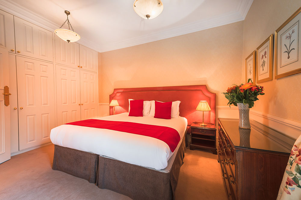 Bed at 10 Curzon Street Apartments, Mayfair, London