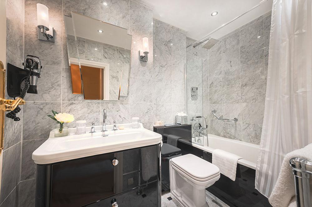Bathroom at 10 Curzon Street Apartments, Mayfair, London