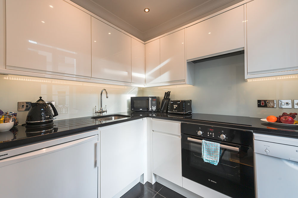 Kitchen at 10 Curzon Street Apartments, Mayfair, London