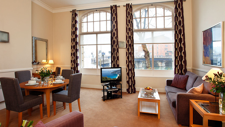 Living room at SACO Bristol - West India House