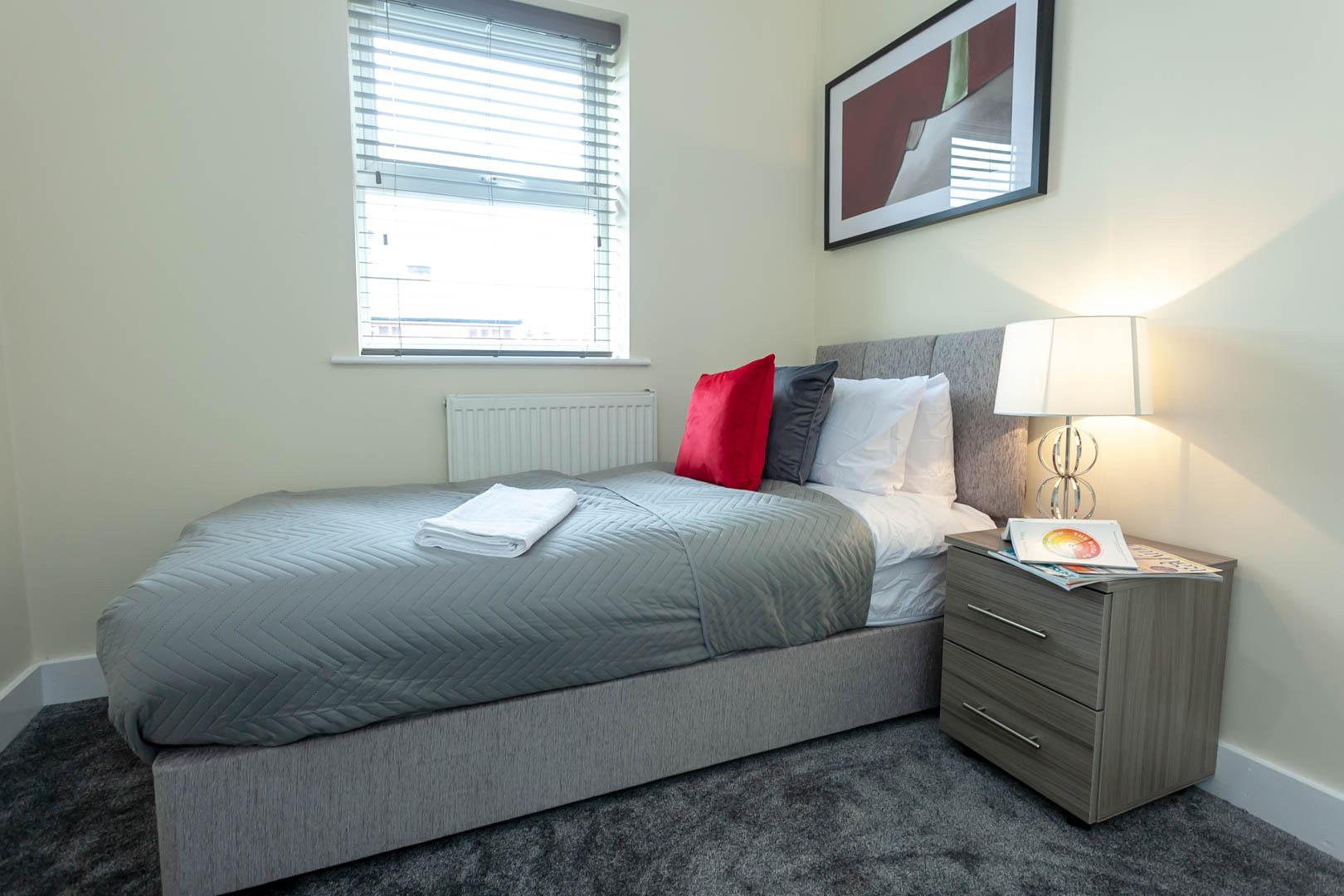 Single bedroom at St Marys House, Latchford, Warrington