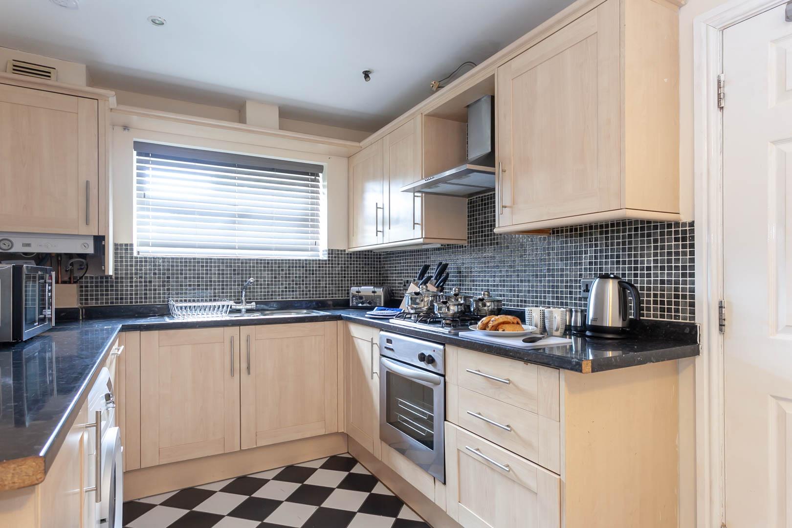 Kitchen at St Marys House, Latchford, Warrington