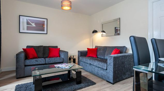 Living area at St Marys House, Latchford, Warrington