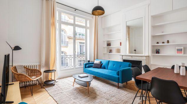 Living area at Victor Hugo Apartment, 16th Arr, Paris