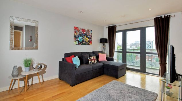Living area at 64 The Reach, Vauxhall, Liverpool