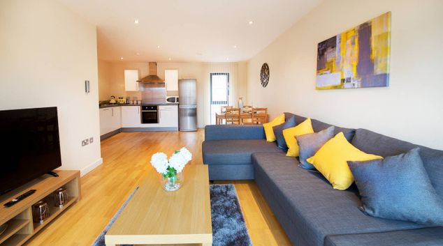Living area at 271 The Reach, Vauxhall, Liverpool