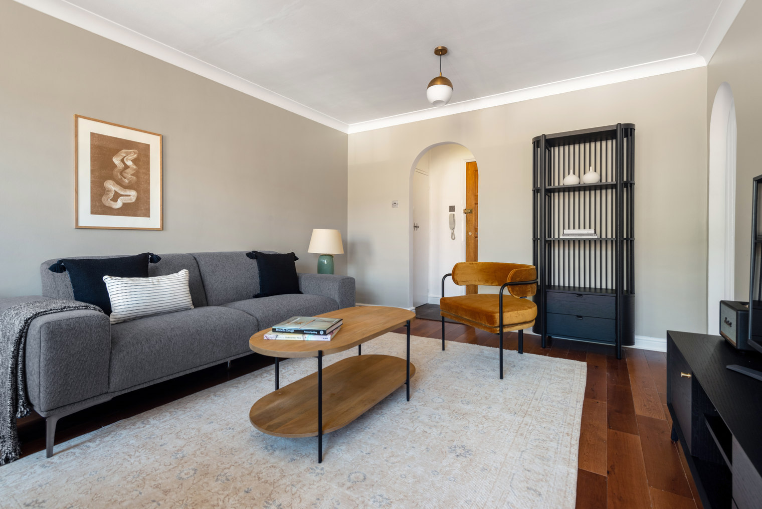 Sofa at Moscow Road Apartment, Bayswater, London