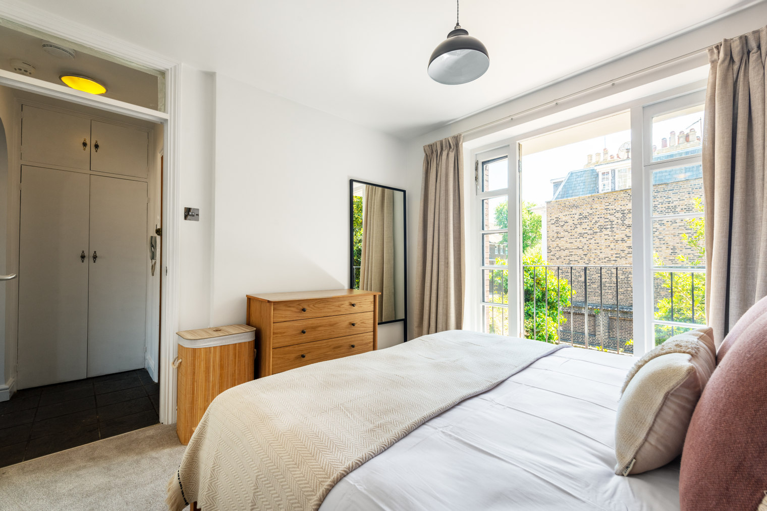 Bedding at Moscow Road Apartment, Bayswater, London