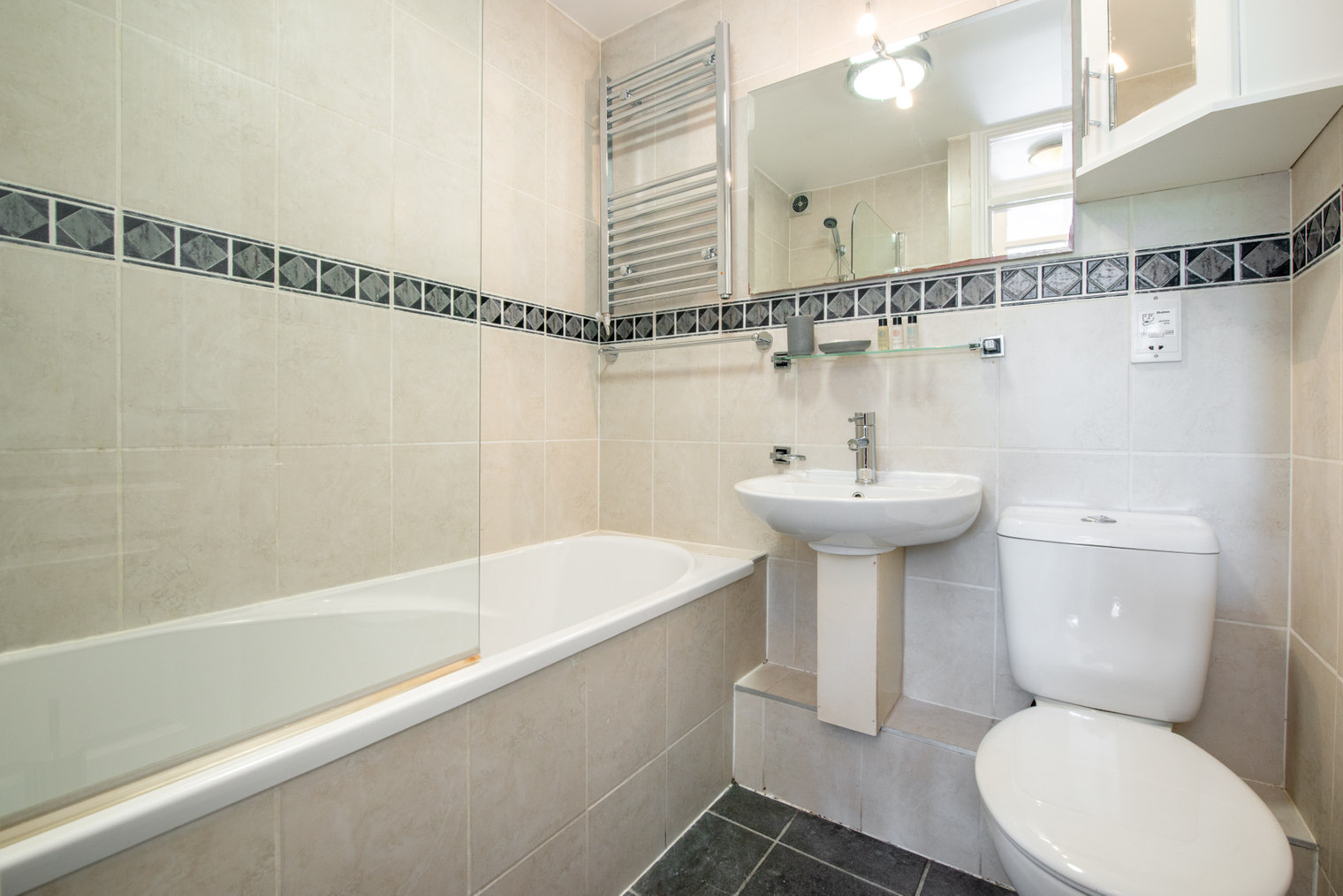 Bathroom at Moscow Road Apartment, Bayswater, London
