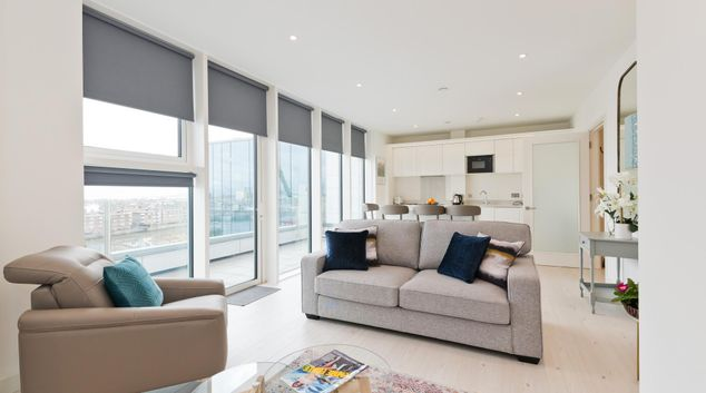 Living area at Hanover Court Apartment, Centre, Dublin