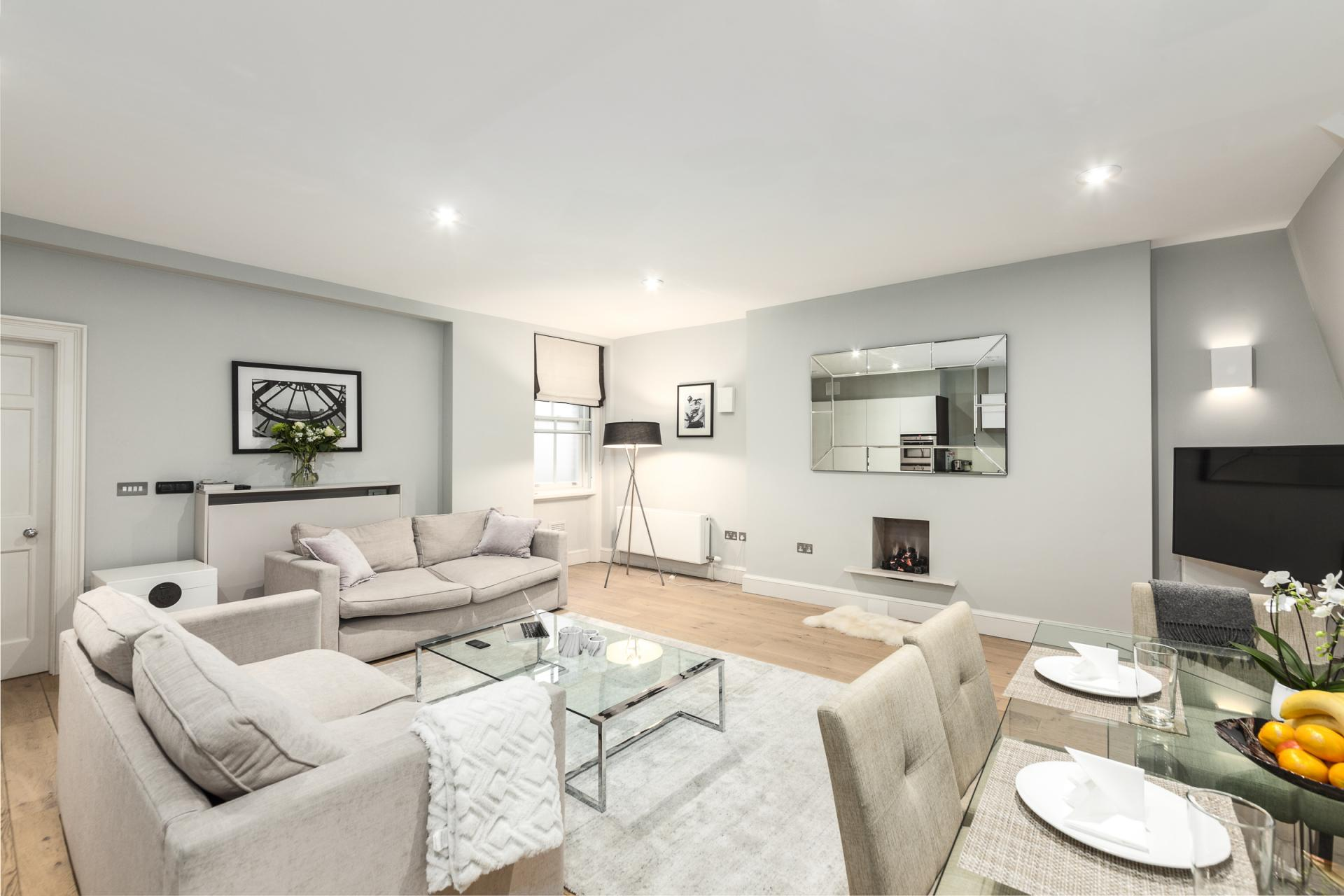 Living area at Mayfair Penthouse Apartment, Mayfair, London