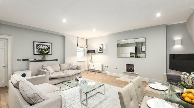 Living area at Mayfair Penthouse Apartment, Mayfair, London