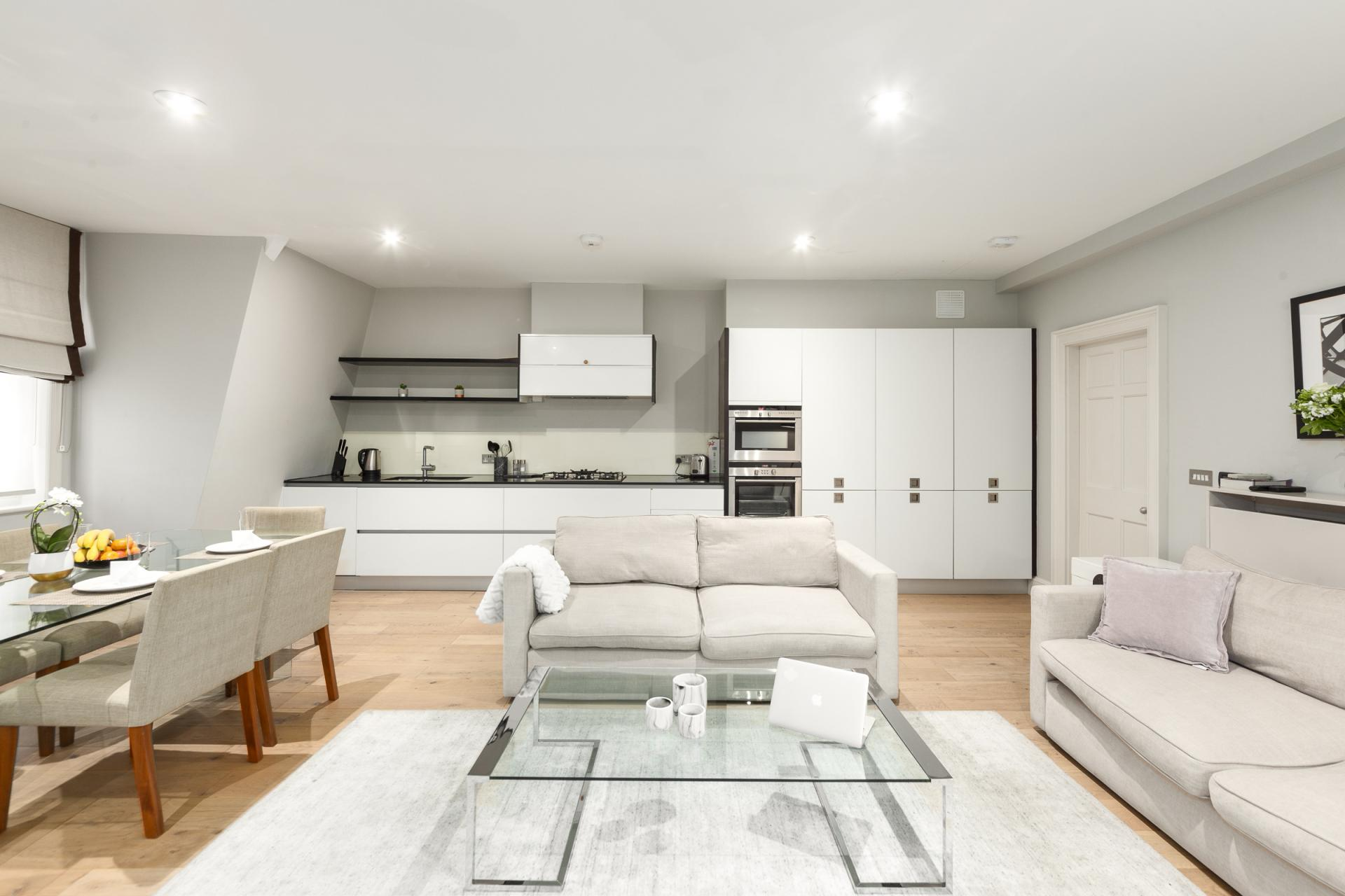 Open living at Mayfair Penthouse Apartment, Mayfair, London