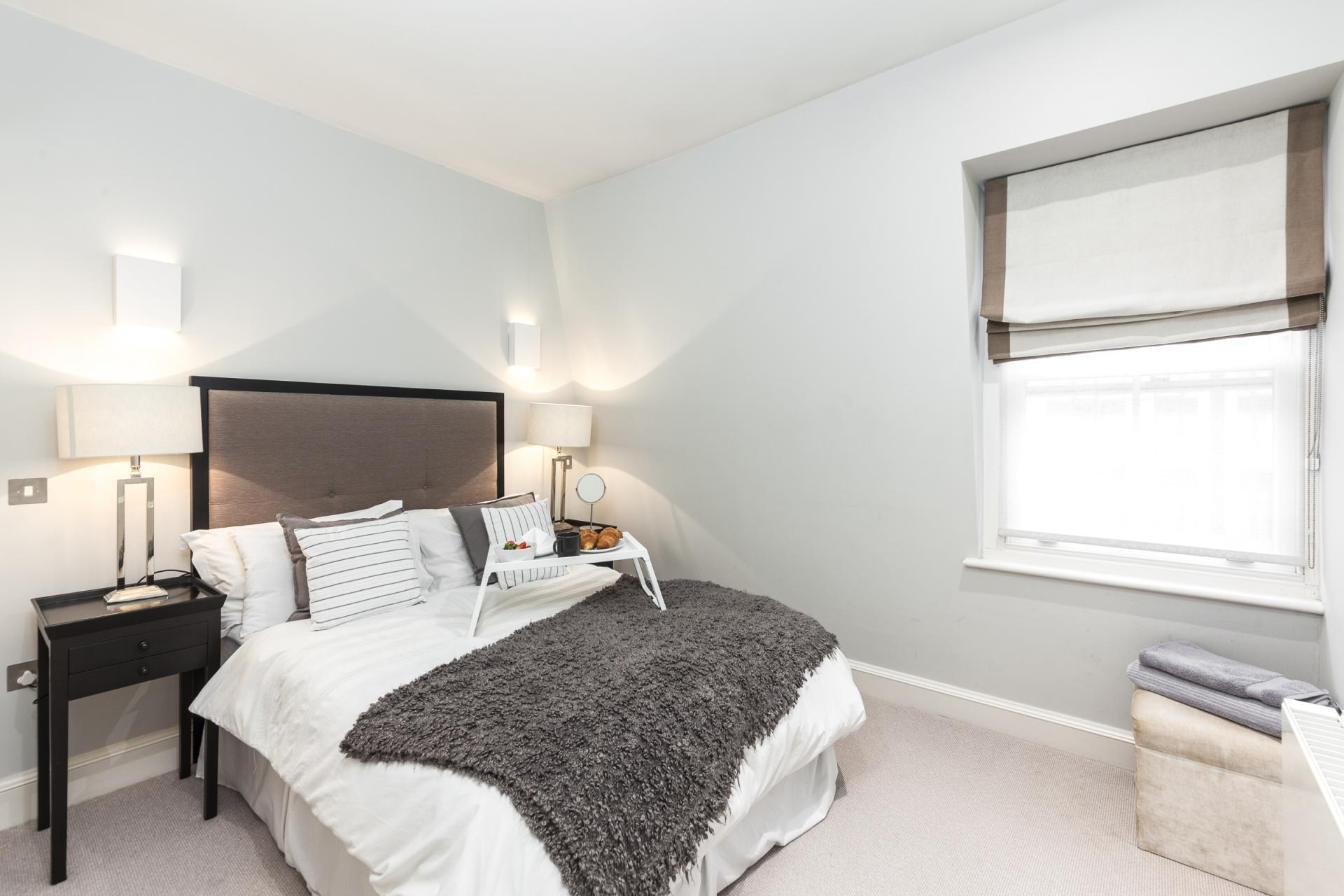 Bright bedroom at Mayfair Penthouse Apartment, Mayfair, London
