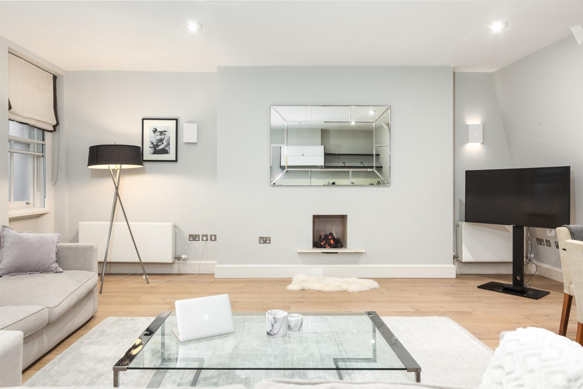 TV at Mayfair Penthouse Apartment, Mayfair, London