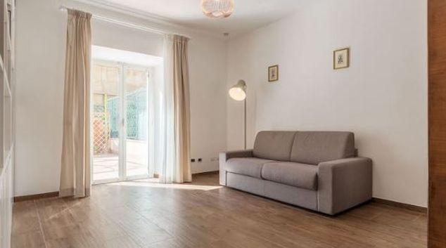 Living area at Sallust Terrace Apartment, Centre, Rome