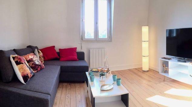 Living area at Rue Fournet Apartment, Centre, Lisieux
