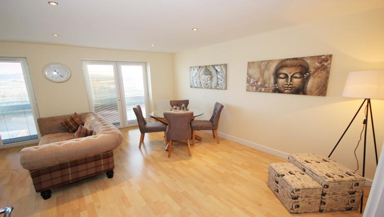Dining area at High Quays Apartments