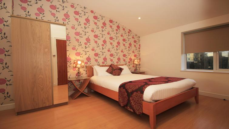 Double bed at High Quays Apartments