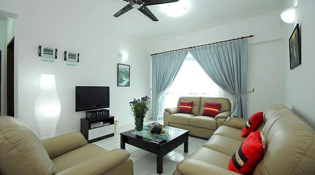 Bright living area in Kuala Lumpur Serviced Apartments