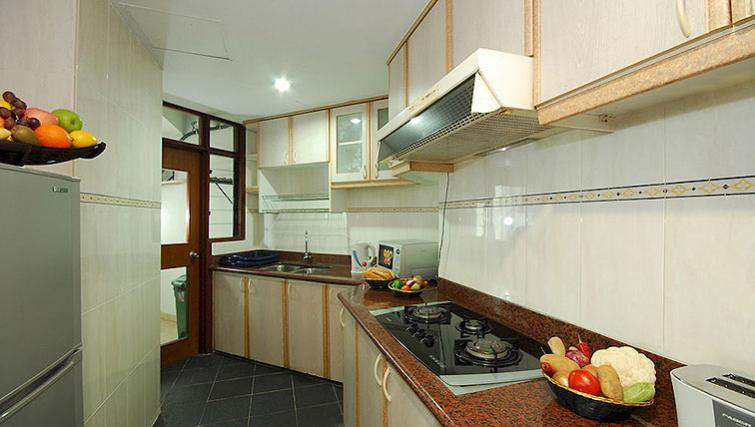 Compact kitchen in Kuala Lumpur Serviced Apartments