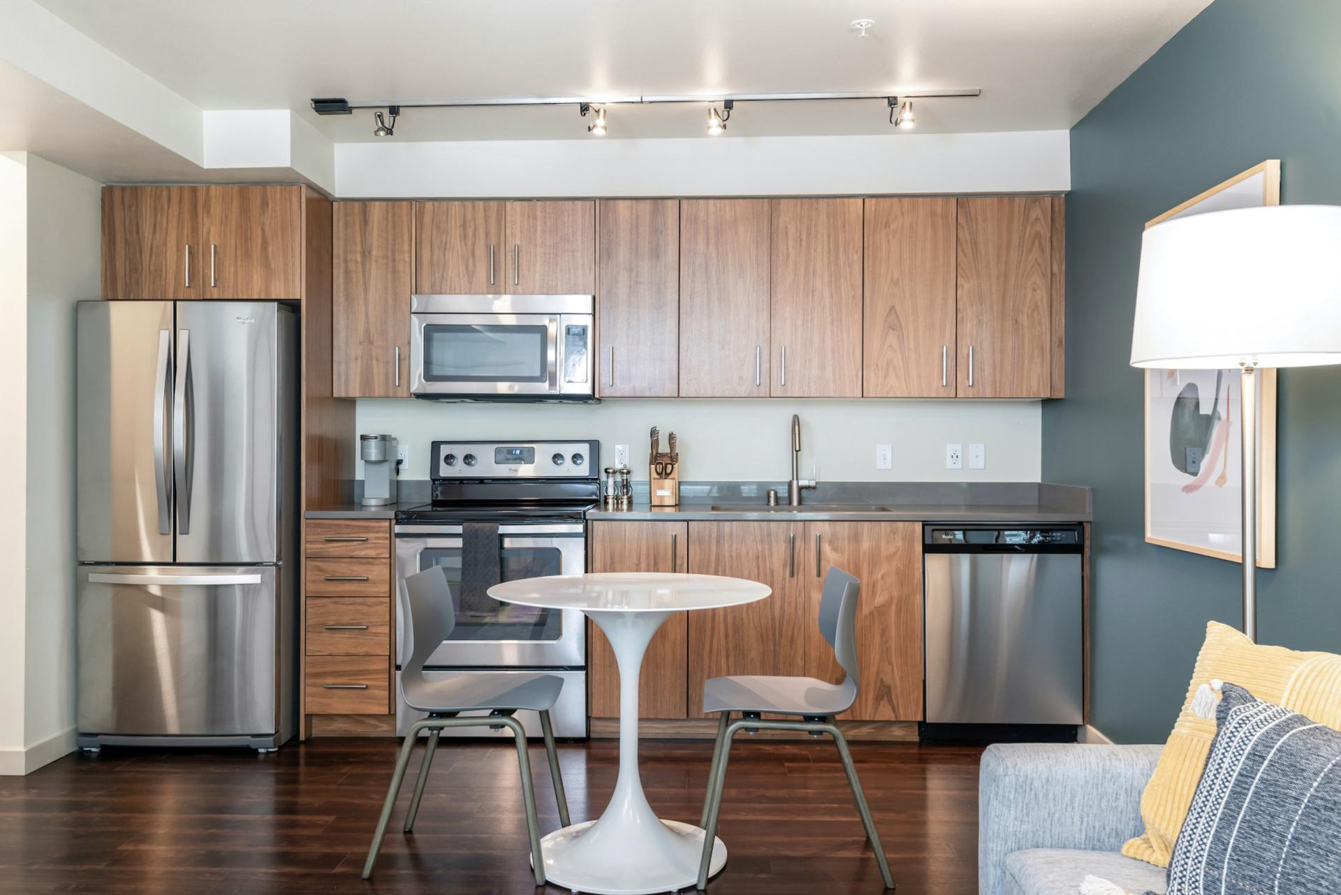 Kitchen at Landing Furnished Apartments at Infinity, Pike/Pine, Seattle