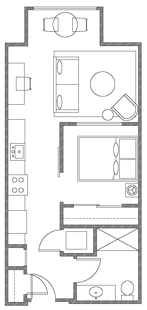 Floor plan of Apartments at Alexan 100, Belltown, Seattle
