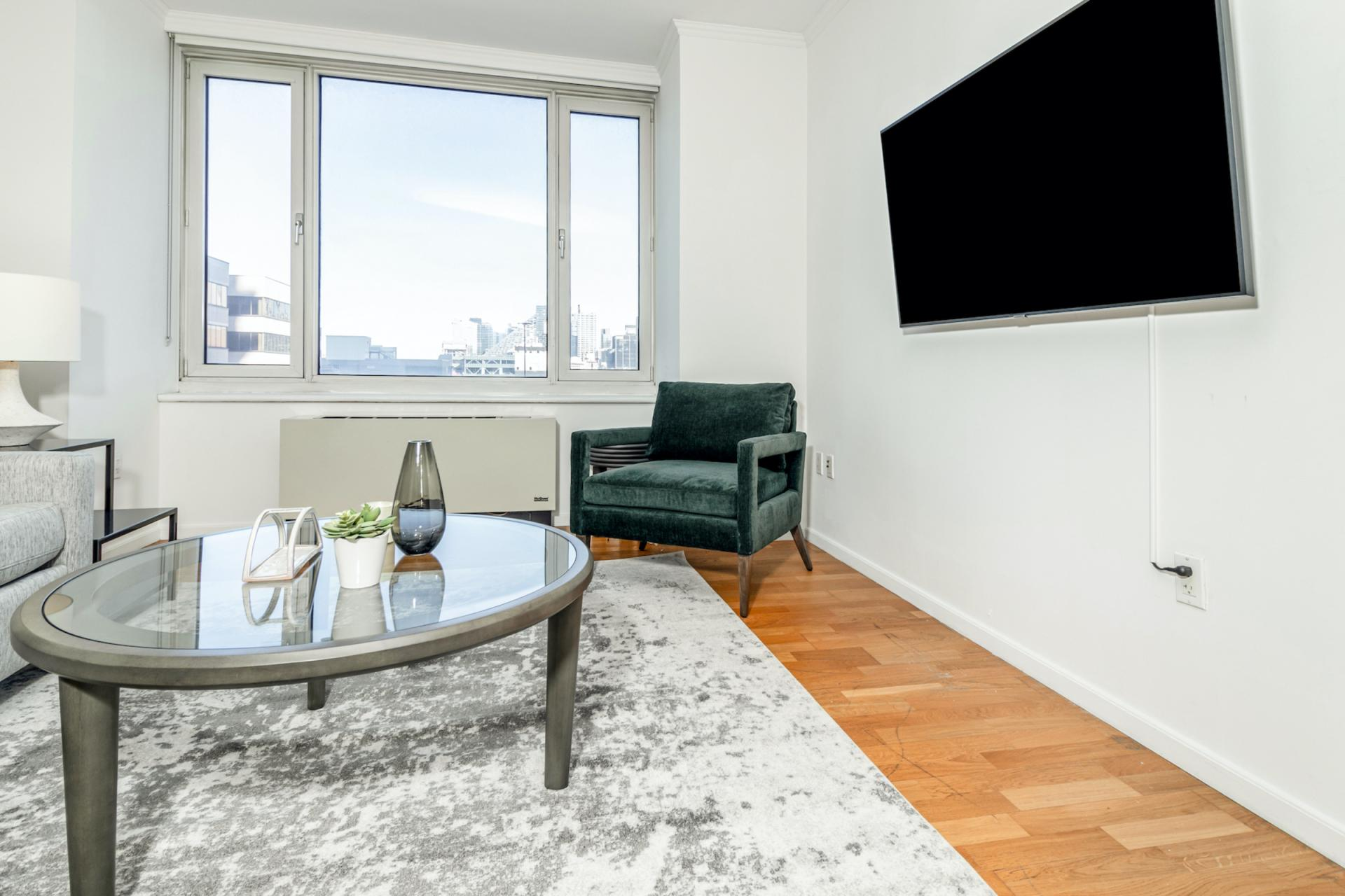 TV at Apartments at Alexan 100, Belltown, Seattle
