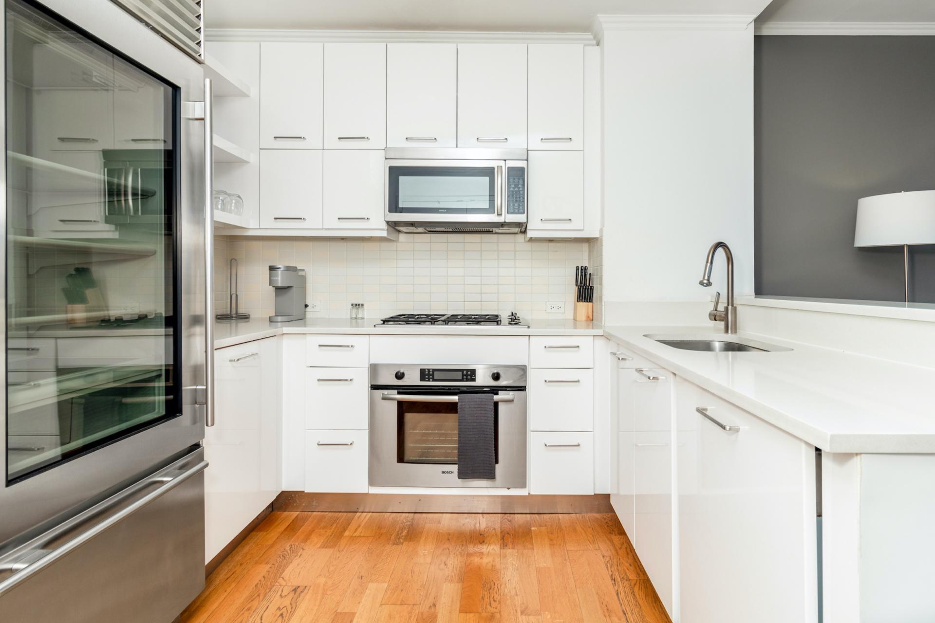 Kitchen at Apartments at Alexan 100, Belltown, Seattle