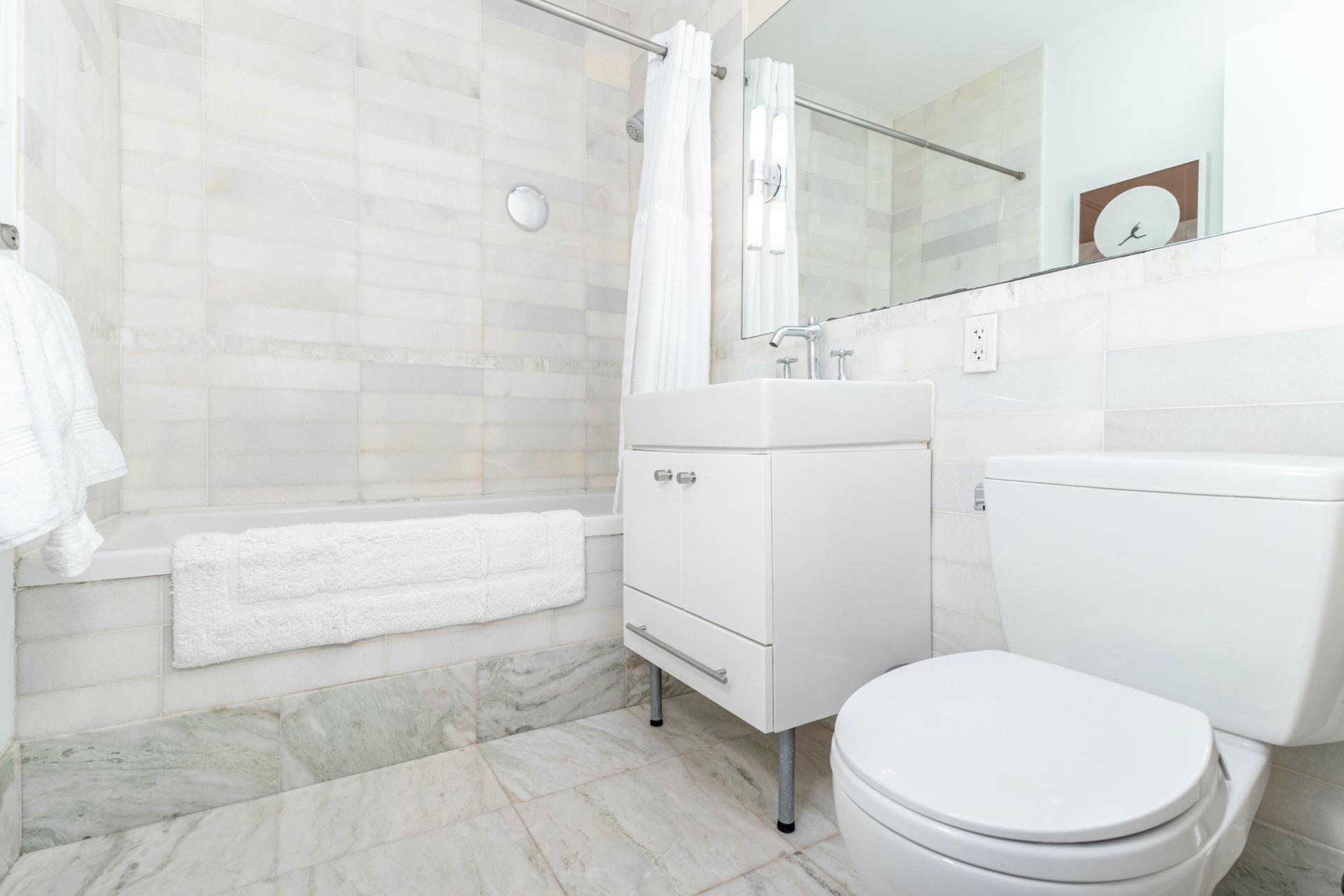 Bathroom at Apartments at Alexan 100, Belltown, Seattle