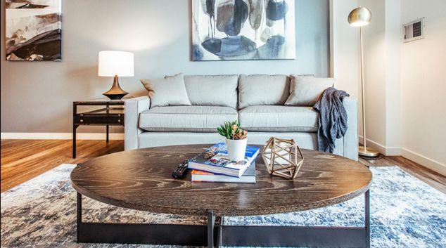 Living area at Apartment at Strata at Mission Bay, Mission Bay, San Francisco