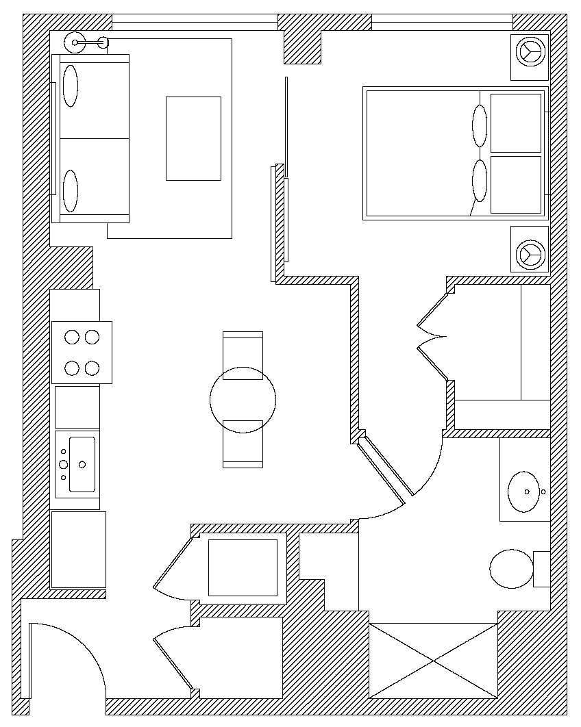 Floor plan of Apartments at Etta, Polk Gulch, San Francisco