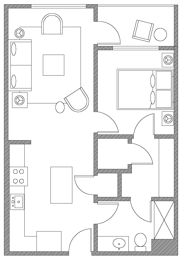 Floor plan of Apartment at Avalon Dogpatch, Dogpatch, San Francisco