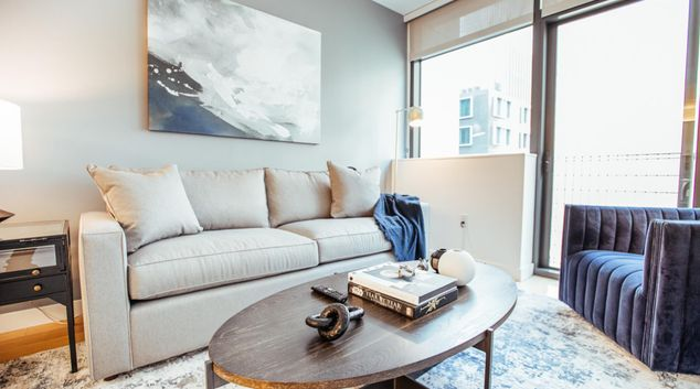 Living area at Apartment at 333 Fremont, Rincon Hill, San Francisco