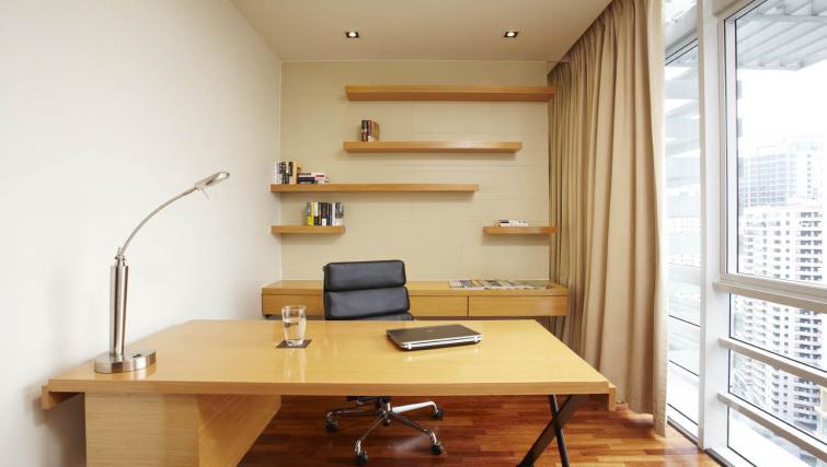 Work desk at PARKROYAL Serviced Suites Kuala Lumpur
