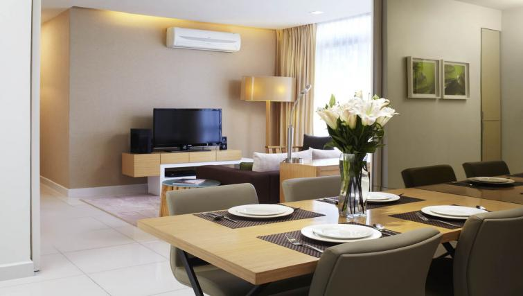 Furnished living area at PARKROYAL Serviced Suites Kuala Lumpur