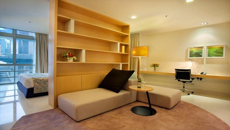 Open living area at PARKROYAL Serviced Suites Kuala Lumpur
