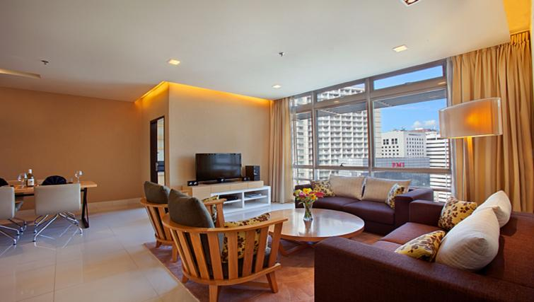 Living space at PARKROYAL Serviced Suites Kuala Lumpur