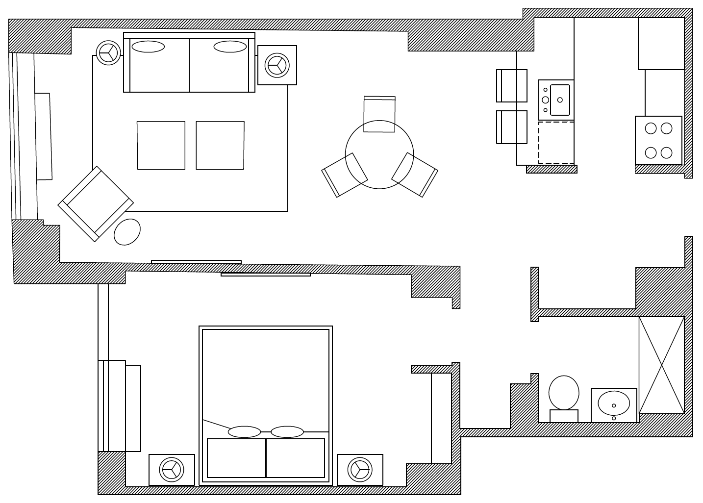 Floor plan of Apartments at Tribeca Park, Manhattan, New York