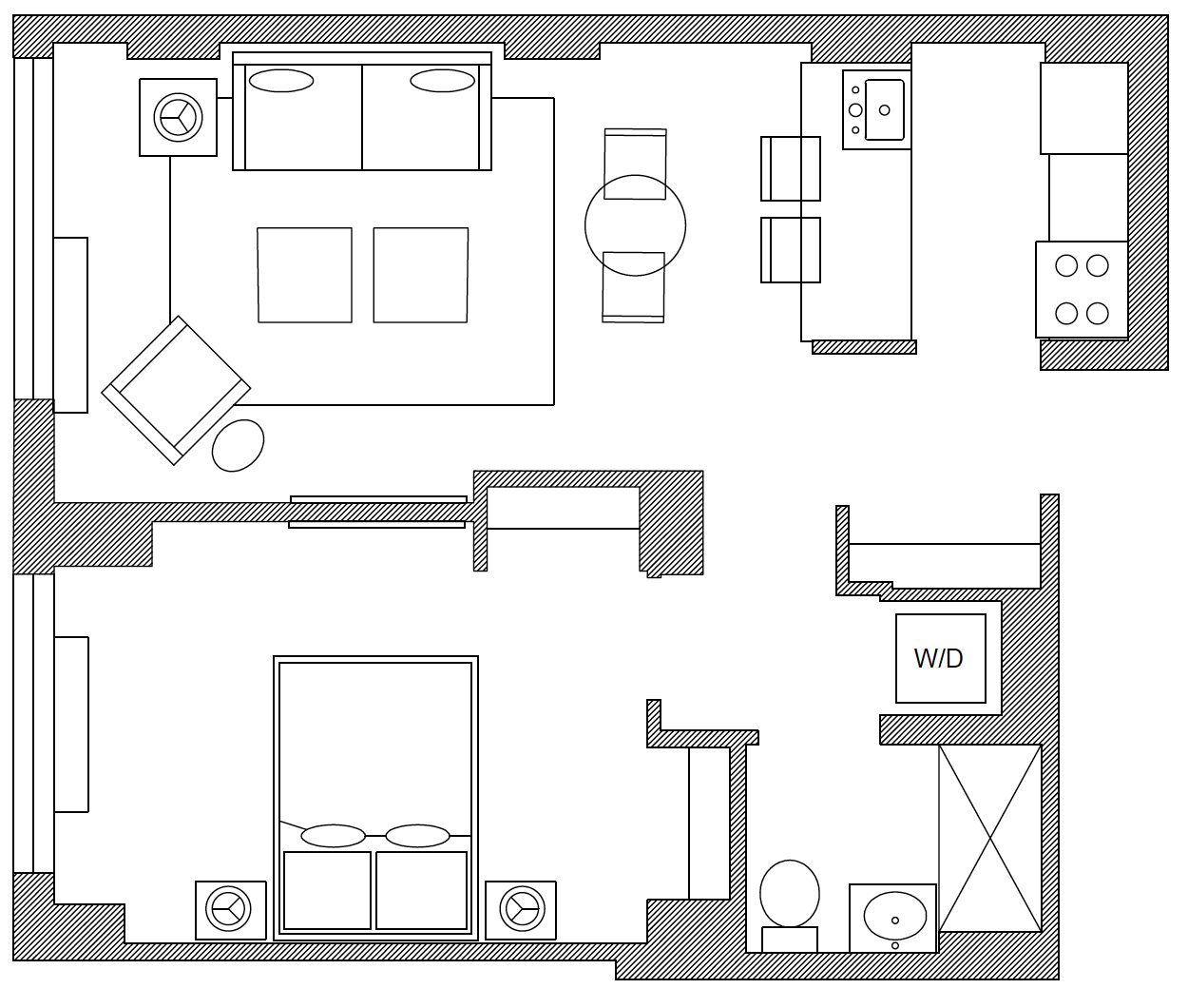 Floor plan of Apartment at the Tate, Manhattan, New York