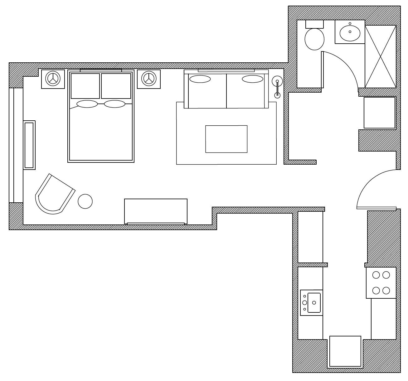 Floor plan at Apartment at Sierra, Manhattan, New York