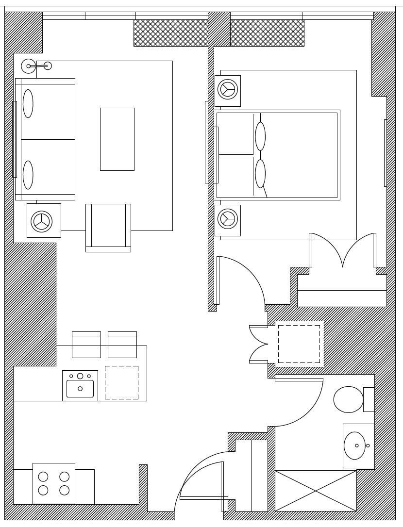 Floor plan of Apartments at the Eugene, Manhattan, New York