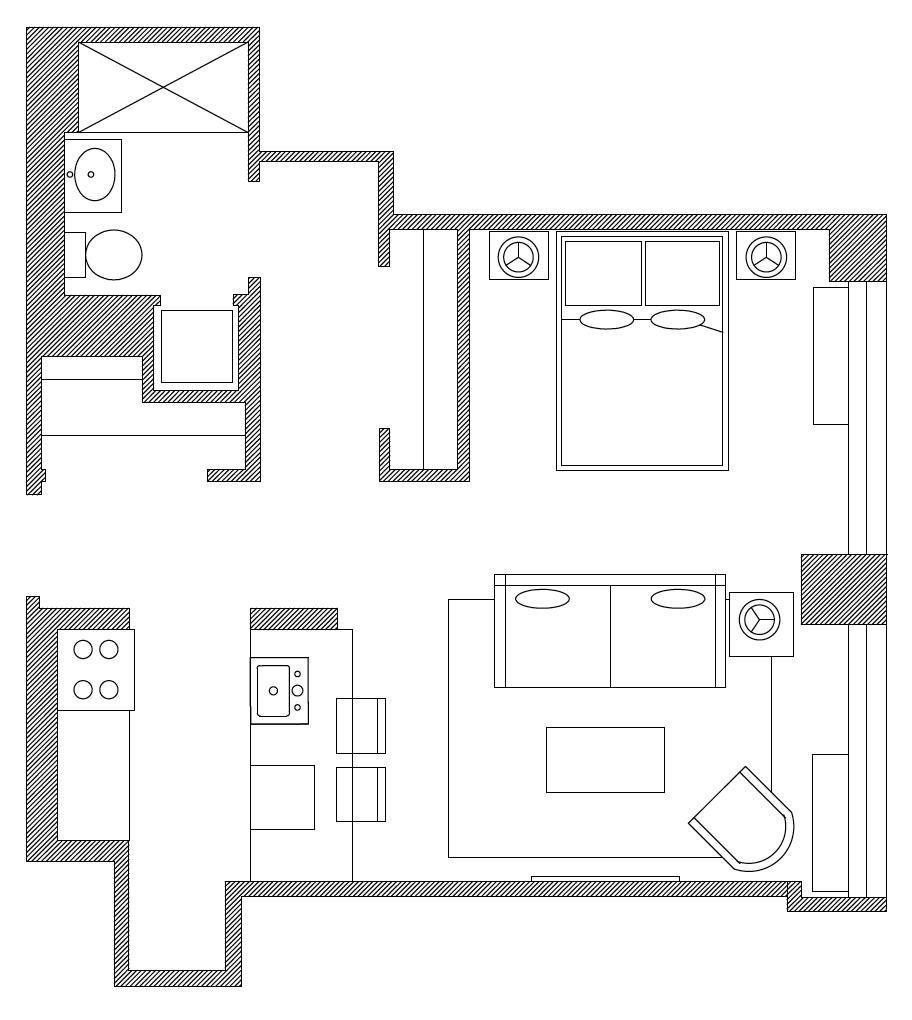 Floor plan of Apartment at the Caledonia, Manhattan, New York