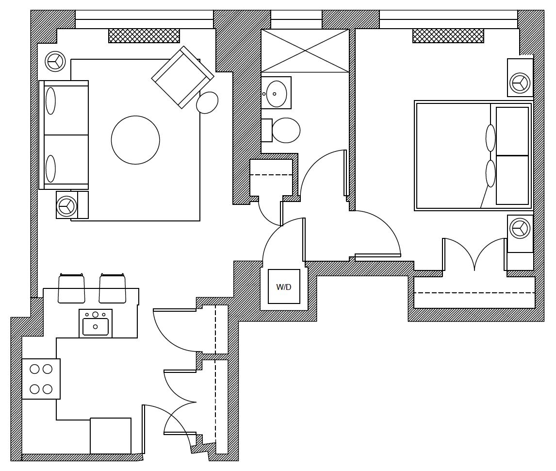 Floor plan of At the Atelier Apartments, Manhattan, New York