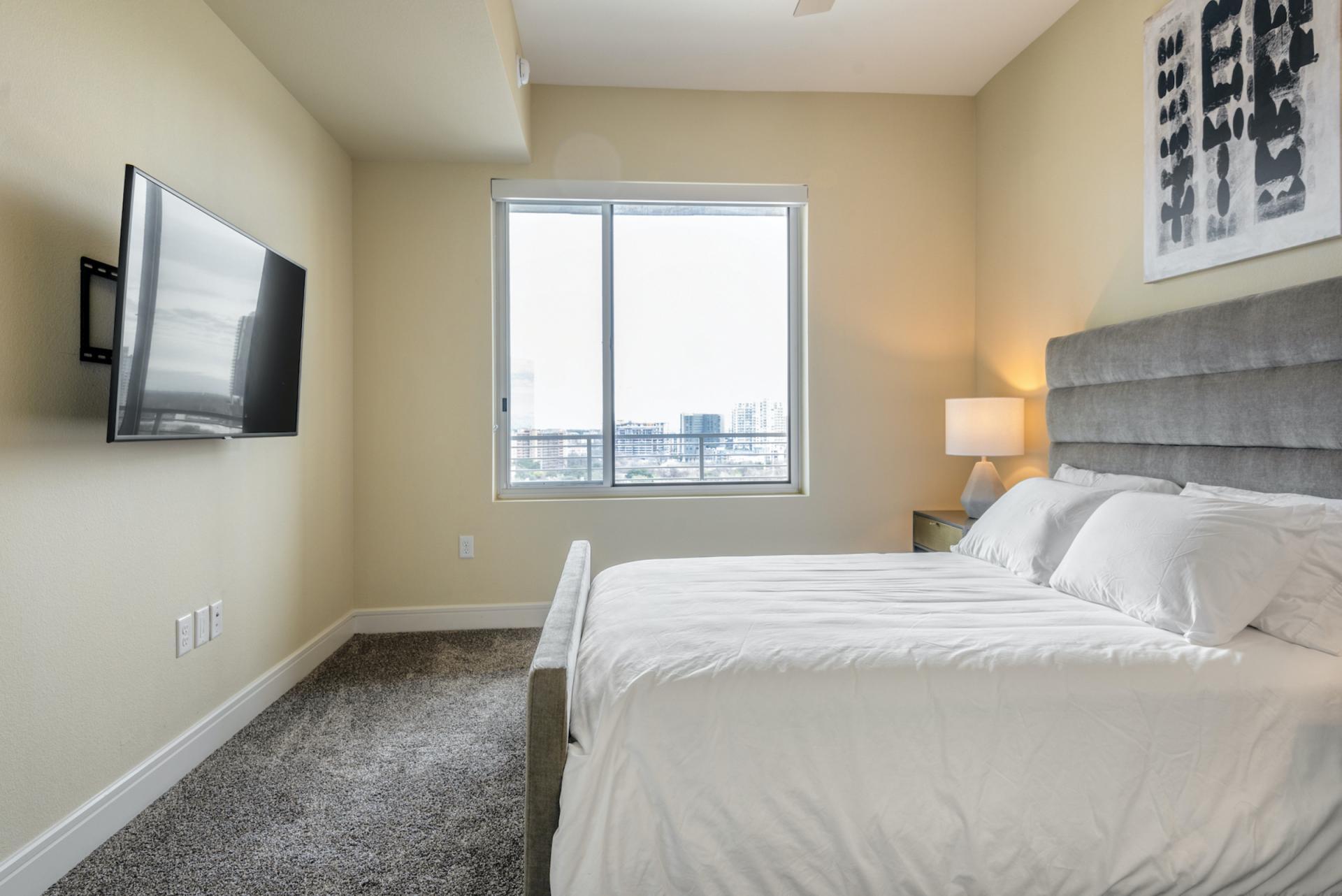 Bedroom at Apartments at The Crosby, Deep Ellum, Dallas